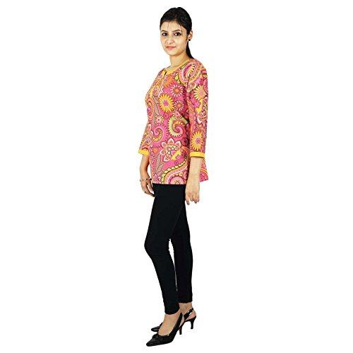 Haut de Ethniques Indiens Tunique Coton Multicolor 1 KOKOM Kurta Crateurs Kurti imprim Robe BqEYw4x8