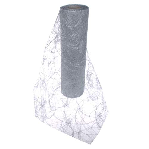 Deko AS GmbH Sizoweb Table Runner Silver:, Easy to use, Reusable and Customizable in Length (Cut & go) - Perfect for Decorating Seasonal, Wedding, Dinner and Party Tables (Covers 10 8ft Tables)]()