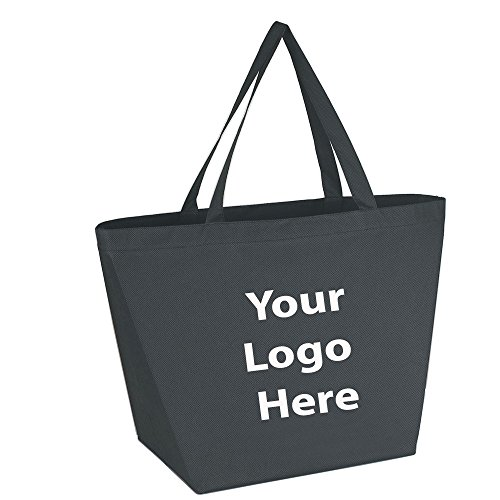 "Sunrise Identity Budget Shopper Tote Bag - 100 Quantity - $1.35 Each - Promotional Product/Bulk with Your Logo/Customized Size: 20""W x 13""H x 8""D."
