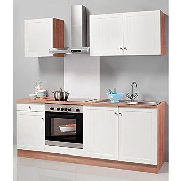 Optifit Küchenzeile Ohne E Geräte Bornholm Breite 210 Cm Braun