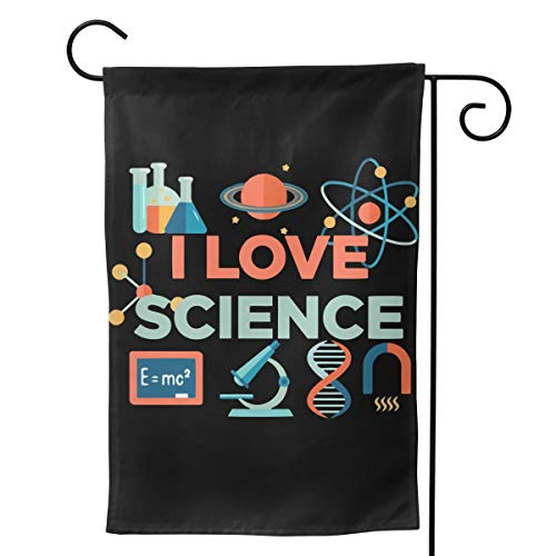Beautiful Garden Flag for Outdoors, I Love Science Chemistry Formula Yard Flags | Durable, Polyester]()