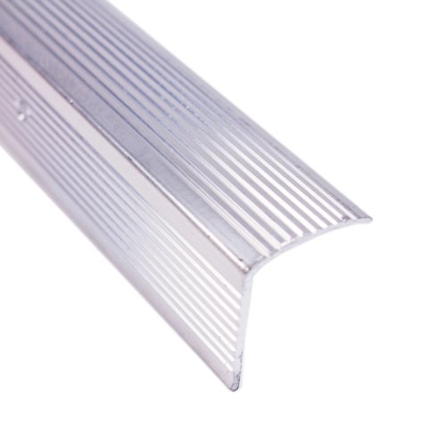 (M-D Building Products 78022 Fluted 1-1/8-Inch by 1-1/8-Inch by 36-Inch Stair Edging, Silver)