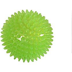UEETEK Dog Squeak Ball Chew Toy Bounce Ball Spiky Massage Ball 6 cm Green