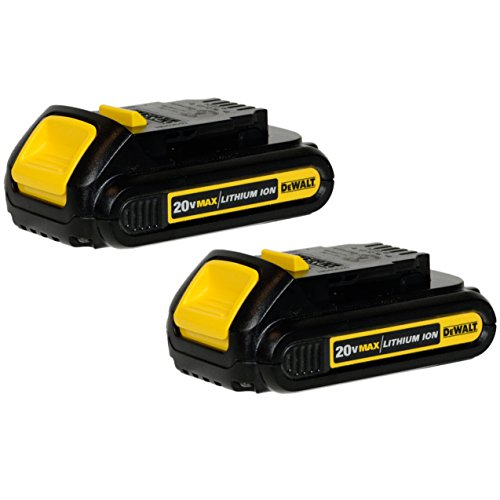 DEWALT DCB207 1.3Ah 20V Li-Ion Compact Battery (2 Pack) (20v Battery Lithium Ion Max)