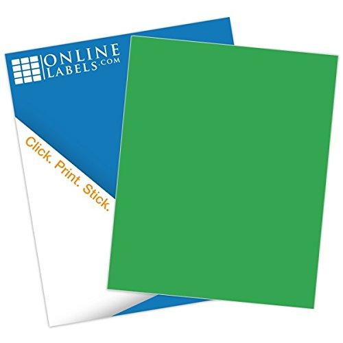 Green Sticker Paper - 100 Sheets - 8.5