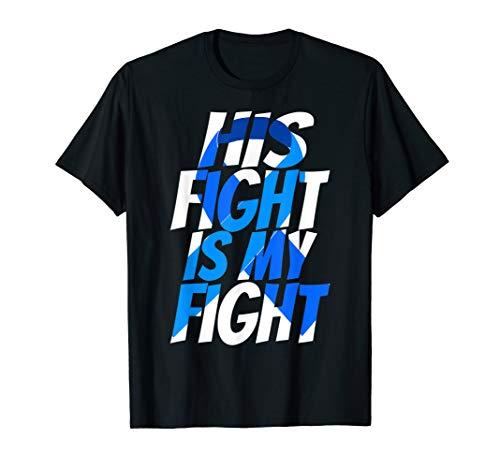 (Colorectal Blue Ribbon Colon Cancer Awareness Shirt for Him)