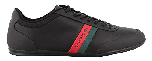389a60f1b406 Lacoste Men s, Storda 318 Lace up Shoes Black RED 7.5 M