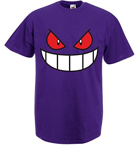 Gengar-Face-Unisex-Printed-T-Shirt