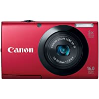 Canon PowerShot A3400 IS 16.0 MP Digital Camera with 5x Optical Image Stabilized Zoom 28mm Wide-Angle Lens with 720p HD Video Recording and 3.0-Inch Touch Panel LCD (Red)