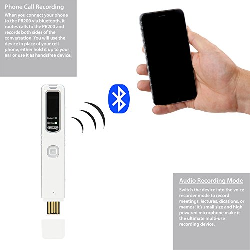 RecorderGear PR200 Bluetooth Cell Phone Call Recording Device, iPhone And Android Mobile Recorder Photo #6
