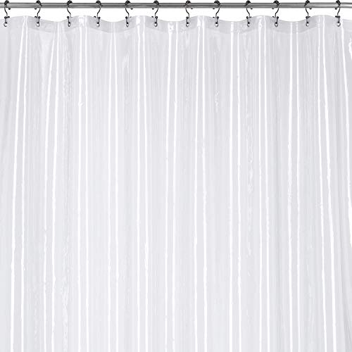 (Utopia Bedding 10 Guage Heavy Duty Clear Shower Curtain Liner 72 by 72 Inches - Odor Less and Non-Toxic - Rust Proof Grommets)