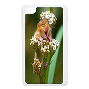 Ipod Touch 4 Case the Most Happy Animal, Can Make You Smile, Doah, {White}