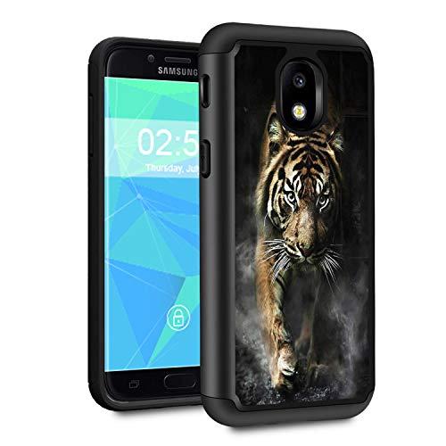 - Galaxy J7 2018 case,J7 Aero/J7 Star/J7 Top/J7 Aura/J7 Crown/J7 Refine Case,Spsun Dual Layer Hybrid Hard Protector Cover Anti-Drop TPU Bumper for Samsung Galaxy J7 2018,Animal Tiger