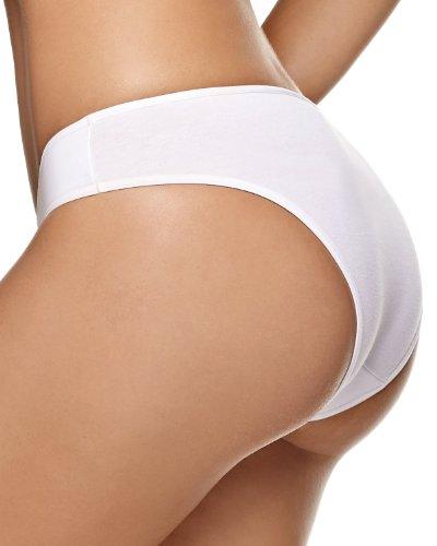 3-Pack Cotton Bikini Panty with Tummy Control- Leonisa Assorted M