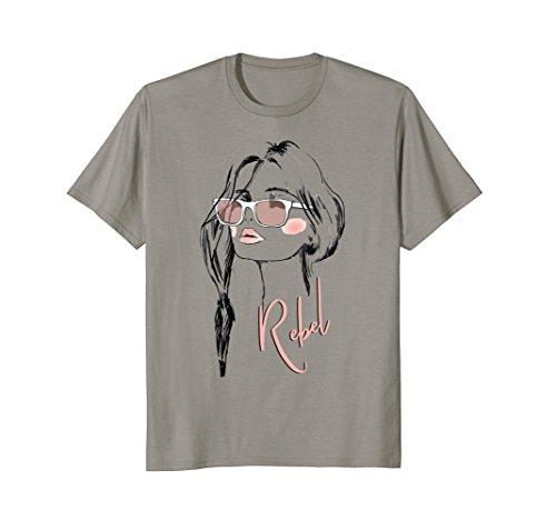 Eyelashes-Eyeglasses-Rebel-Lips-Lipstick-T-Shirt-Print