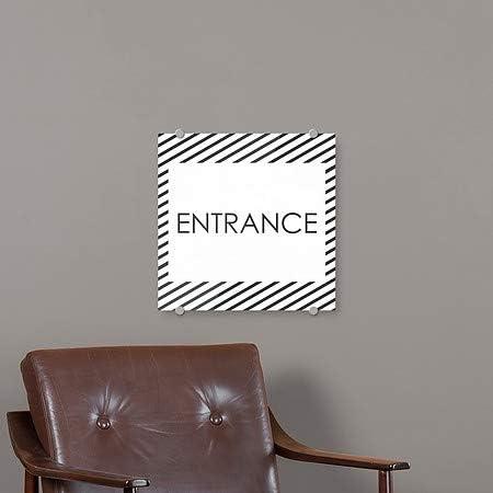 5-Pack CGSignLab Stripes White Premium Brushed Aluminum Sign 16x16 Entrance