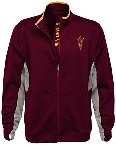 Devils Ncaa Classic Fleece - OuterStuff NCAA Arizona State Sun Devils Men's First String Full Zip Jacket, Classic Maroon, Large
