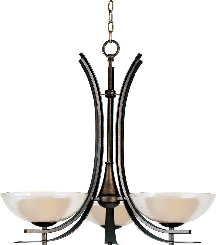 Maxim Lighting 11524TCAD Duo 3-Light Chandelier, Auburn Dusk with Textured Clear Glass - Maxim Dome Light