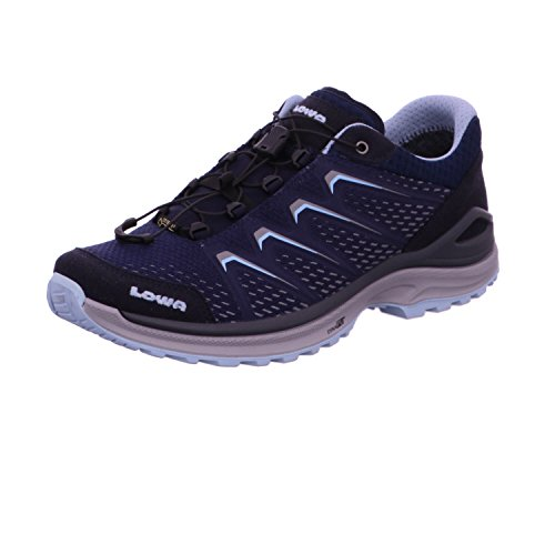 Maddox Des Femmes Lowa Gtx Lo Ws Randonnée Marine Chaussures / Eisblau