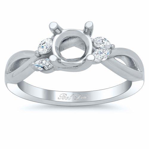 (Bel Dia Diamond Engagement Ring Semi Mount Vine)
