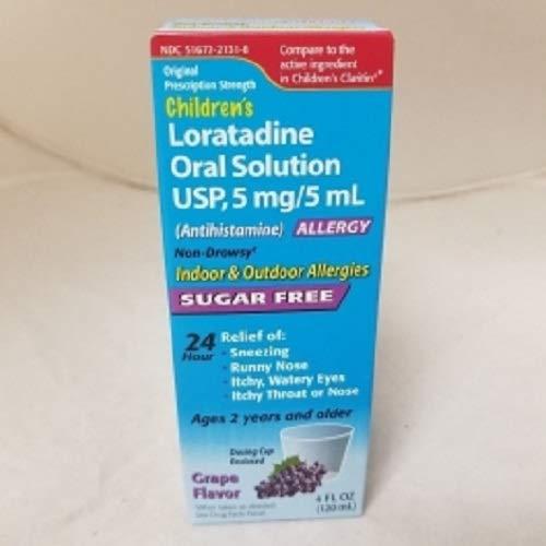 - Children's Loratadine Oral Solution USP 5mg/5ml *Compare to The Active Ingredient in Children's Claritin*