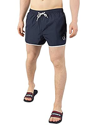 Calvin Klein Men's Short Runner Swim Shorts, Blue