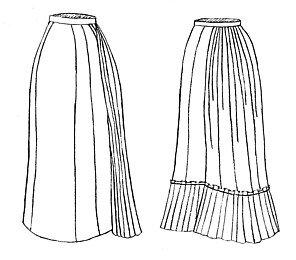 (1878 Tie-Back Underskirt Pattern)