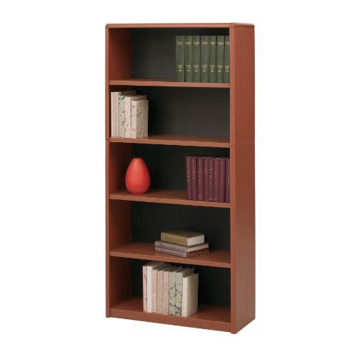 (Safco Products 7173CY ValueMate Economy Bookcase, 5-Shelf, Cherry )