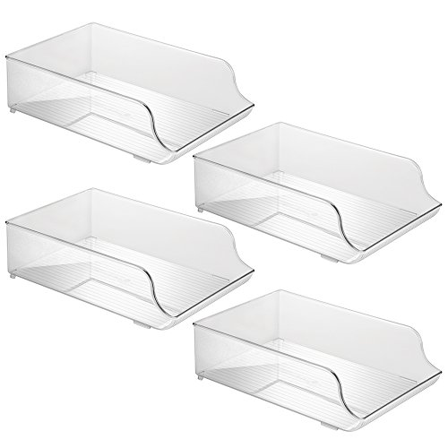 Price comparison product image InterDesign Refrigerator Water Bottle Holder for Kitchen Cabinet or Pantry - Set of 4,  Clear