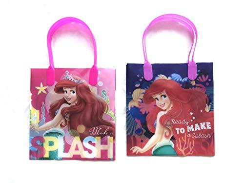 12 Pieces Disney Pixar Nickelodeon Birthday Goody Gift Loot Favor Bags Party Supplies (Little Mermaid ()