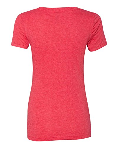 Free Next Level Apparel 6740 Lady Tri-Blend Deep V Neck T-Shirt - Vintage Red, Medium