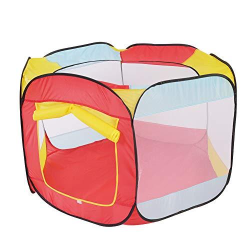 Fdit Colorida Casa de Juegos para Niños Playa Al Aire Libre Plegable Piscina de Bolas de Océano Tienda de Juguetes (Carpa...