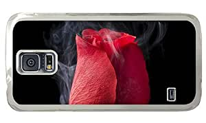Hipster sale Samsung Galaxy S5 Case Rose Smoking PC Transparent for Samsung S5