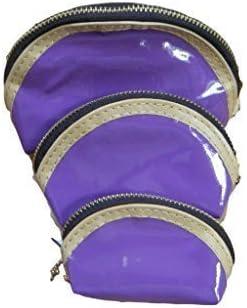 Porte-monnaie simili-cuir vernis 3-en-1 mode 7 couleurs Femmes//filles fat-catz-copy-catz