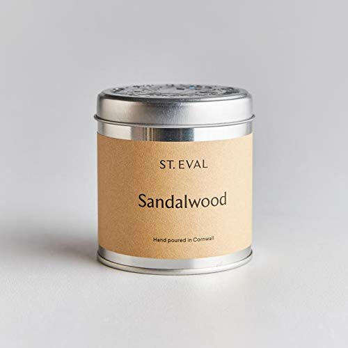 St Eval Sandalwood Scented Tin Candle