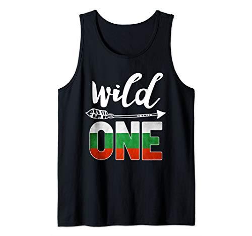 Bulgaria Wild One Birthday Outfit 1 Bulgarian Flag Tank Top ()