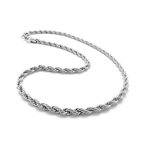 Gbell Clearance! 3 MM Hip Hop Men's Necklace - Silver Thick Stainless Steel Link Necklace Fashion Jewelry,20 Inch/24 Inch/30 Inch