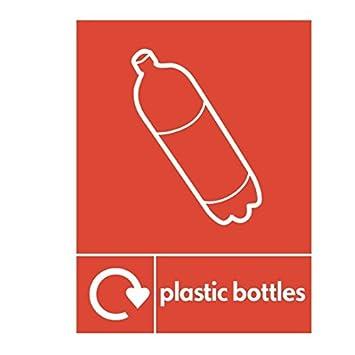 Botellas de plástico reciclado señal – 150 mm x 200 mm plástico rígido