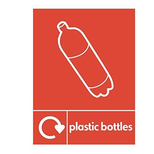 Botellas de plástico reciclado señal - 150 mm x 200 mm plástico rígido: Amazon.es: Oficina y papelería