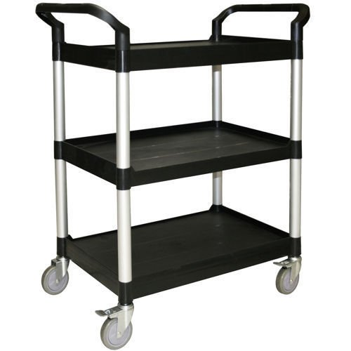 (USA Warehouse) Restaurant Essentials Heavy Duty Utility Cart BLACK OR GRAY -/PT# HF983-1754343583