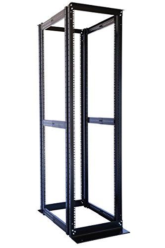 """42U 19"""" 4 Post Open Frame Adjustable IT Network Data Server Rack Enclosure"""