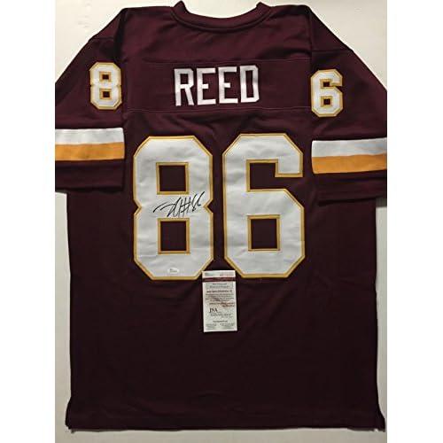 Autographed Signed Jordan Reed Washington Redskins Maroon Football Jersey  JSA COA 20b24692a
