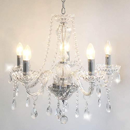 Lustre Glow, 108x57, cristal, vidro e metal transparente