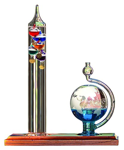 (AcuRite 00795A2 Galileo Thermometer with Glass Globe Barometer)