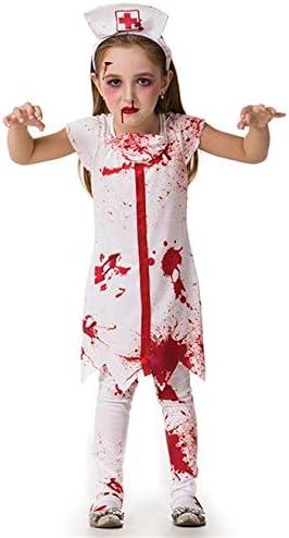 Fantasia De Halloween Infantil Feminina Enfermeira Zumbi The Walking Dead G 9 10 Amazon Com Br