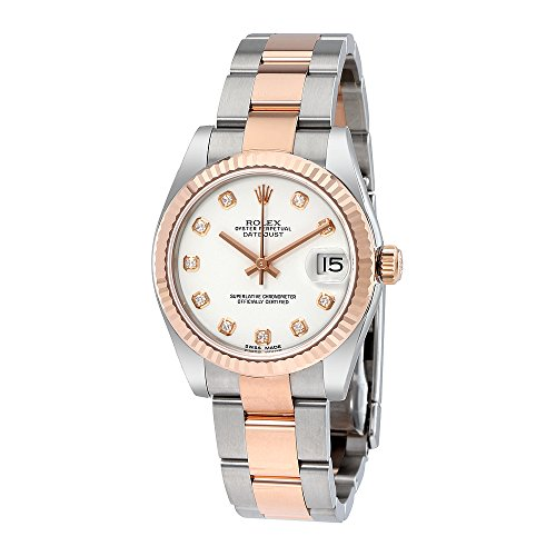 Rolex Datejust Lady 31 White Dial Stainless Steel and 18K Everose Gold Rolex Oyster Automatic Watch 178271WDO