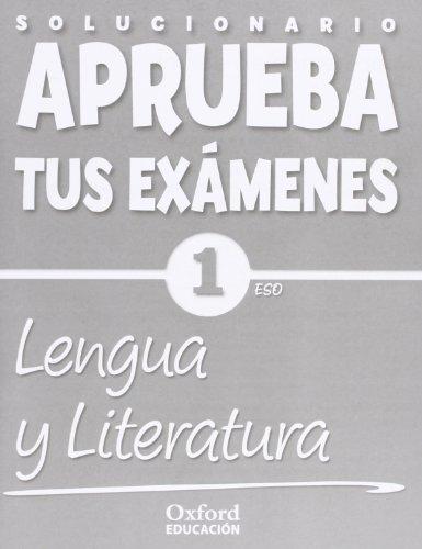 Aprueba tus Exámenes: Lengua Castellana y Literatura 1º ESO Cuaderno de Ejercicios (Solucionario) - 9788467358995 por Bouza Álvarez, M.ª Teresa