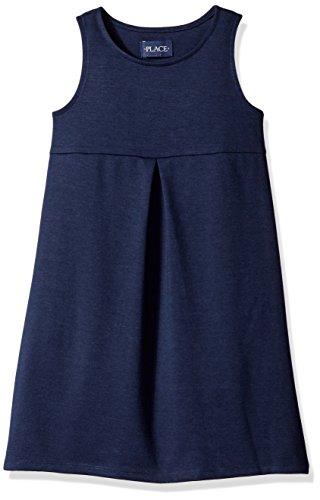 The Children's Place Big Girls Knit Uniform Dress, Tidal, Medium/7/8