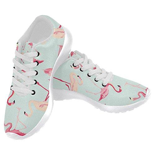 Interessante Donna Da Jogging Da Corsa Sneaker Leggero Andare Facilmente A Piedi Casual Sport Sportivo Scarpe Da Corsa Fenicottero Uccello