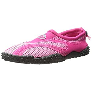 Womens Water Shoes Aqua Socks Pool Beach ,Yoga,Dance and Exercise (10, Fuchsia/Pink 1185L)